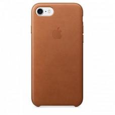 Кожаный чехол Apple для iPhone 7/8/SE 2, цвет золотисто-коричневый
