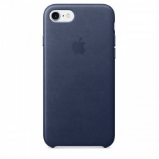 Кожаный чехол Apple для iPhone 7/8/SE 2, цвет темно-синий