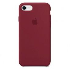 Силиконовый чехол для iPhone 7/8/SE 2, цвет бордовый