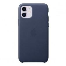 Чехол для iPhone 11 Leather Case кожаный синий