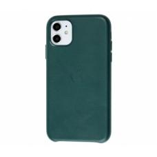Чехол для iPhone 11 Leather Case кожаный зелёный