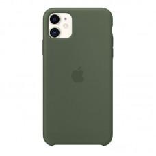 Чехол для iPhone 11 Silicone Case силиконовый цвета хаки