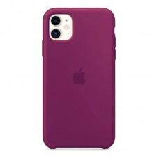 Чехол для iPhone 11 Silicone Case силиконовый малиновый