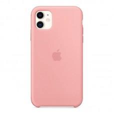 Чехол для iPhone 11 Silicone Case силиконовый персиковый