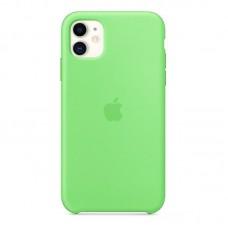 Чехол для iPhone 11 Silicone Case силиконовый зеленый