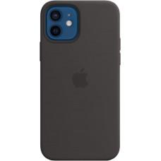 Чехол Silicone Case для iPhone 12/12 Pro, cиликон, чёрный