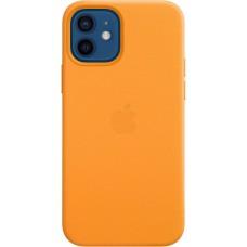 """Чехол Leather Case для iPhone 12/12 Pro, кожа, """"золотой апельсин"""""""