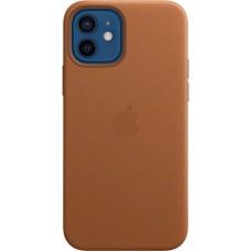 Чехол Leather Case для iPhone 12/12 Pro, кожа, золотисто-коричневый