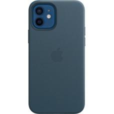 """Чехол Leather Case для iPhone 12/12 Pro, кожа, """"балтийский синий"""""""