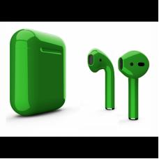 Беспроводные наушники Apple AirPods 2 темно-зеленые