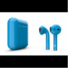 Беспроводные наушники Apple AirPods 2 голубые