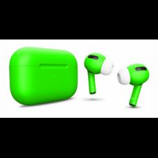 Беспроводные наушники Apple AirPods Pro ярко-зелёные матовые
