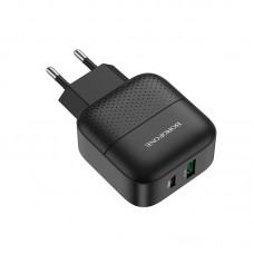 Зарядка BA46A Premium PD + QC3.0 набор с кабелем, чёрная