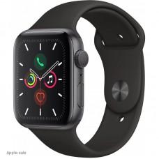 Apple Watch Series 5, 40 мм, корпус из алюминия цвета «серый космос», спортивный браслет чёрный