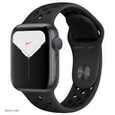 Apple Watch Nike Series 5, 44 мм, корпус из алюминия цвета «серый космос», спортивный ремешок Nike цвета антрацитовый/черный